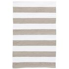 Catamaran Stripe Gold/White Indoor/Outdoor Area Rug Rug Size: 10' x 14'