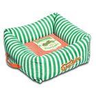 Neutral-Striped Ultra-Plush Easy Wash Squared Designer Dog Bed Size: Medium (19.7