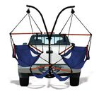 Trailer Hitch Stand Cotton Chair Hammock with Stand Color: Midnight Blue, Dowels: Wood