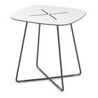 Henrie Cross End Table Color: Anthracite