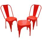 Leigh Classique 3 Piece Caf� Set Finish: Red