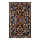 Chain Stitch Handmade Blue / Green / Red Area Rug