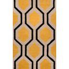 Varanas Hand-Tufted Wool Yellow/Black Area Rug Rug Size: Rectangle 5' x 8'