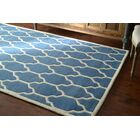 Venice Hand-Tufted Wool Light Blue Area Rug Rug Size: Rectangle 8'6