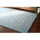 Filigree Hand-Tufted Wool Blue Area Rug Rug Size: Rectangle 7'6