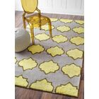 Skarner Hand-Hooked Wool/Cotton Yellow/Gray Area Rug Rug Size: Rectangle 5' x 8'