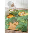 Kinder Safari Friends Green Area Rug Rug Size: Rectangle 6' x 9'