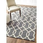 Lombard Hand-Woven Gray/Ivory Area Rug Rug Size: Rectangle 7'6