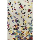 Augustine Hand-Tufted White/Blue Area Rug Rug Size: Rectangle 7'6