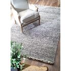 Nilles Hand-Woven Wool Silver Area Rug Rug Size: Rectangle 7'6