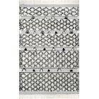 Eddington Hand Tufted Wool Silver Area Rug Rug Size: Rectangle 7'6
