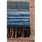 Bairdstown Hand Woven Blue Area Rug Rug Size: Rectangle 5' x 8'