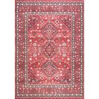 Venice Cotton Red Area Rug Rug Size: Rectangle 4' x 6'