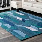 Lilyanna Blue Area Rug Rug Size: Rectangle 6' x 9'