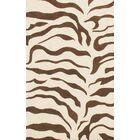 Earth Zebra Print Hand-Tufted Wool Brown Area Rug Rug Size: Rectangle 4' x 6'