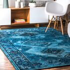 Blue Area Rug Rug Size: Rectangle 6'7'' x 9'