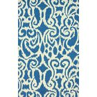 Downen Hand-Hooked Wool Blue Area Rug Rug Size: Rectangle 7'6