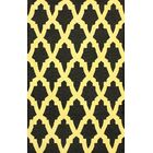 Brilliance Yellow/Black Damian Area Rug Rug Size: Rectangle 5' x 8'