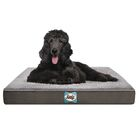 Supreme Sherpa Dog Bed Color: Modern Gray, Size: Large