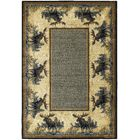 Hautman Northwood Moose Beige/Blue Area Rug Rug Size: 3'11