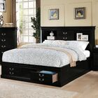 Whispering Pines Storage Platform Bed Color: Black, Size: Eastern King