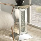 Bladwell Mirrored Pedestal End Table