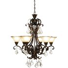 Ironwood 6-Light Shaded Chandelier