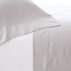 Silken Solid 400 Thread Count Tencel Sheet Set Size: Queen, Color: Gray