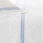 Trio 400 Thread Count 100% Cotton Flat Sheet Size: Twin, Color: Indigo