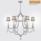 Prussian Neoclassic 6-Light Shaded Chandelier Finish: Gold