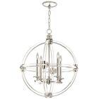 Grosvenor Square/Rectangle 4-Light Globe Chandelier Finish: Polished Nickel