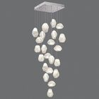 Natural Inspirations Cluster Pendant Finish: Platinized Silver, Shade Color: Clear