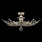Crystal Laurel 5-Light Semi Flush Mount Finish: Antique Silver Leaf