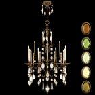 Encased Gems 24-Light Chandelier Crystal: Clear, Finish: Variegated Gold Leaf