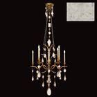 Encased Gems 8-Light Chandelier Crystal: Clear