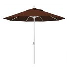 Cello 9' Market Umbrella Frame Finish: Matted White, Fabric: Bay Brown