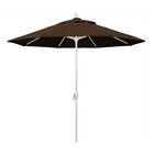 Cello 9' Market Umbrella Fabric: Mocha, Frame Finish: Matted White
