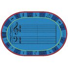 Value Plus A-Sharp Music Area Rug Rug Size: 8' x 12'