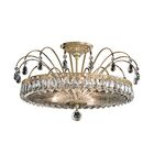 Fontana Luce 3-Light Semi Flush Mount Finish: Antique Silver