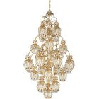 Rondelle 25-Light Shaded Chandelier Finish / Crystal Color: Antique Silver / Amethyst