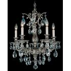 Milano 5-Light Chandelier Finish: Florentine Bronze, Crystal Color: Strass Golden Shadow