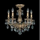 Milano 5-Light Chandelier Finish: Antique Silver, Crystal Grade: Optic Clear
