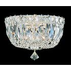 Petit 3-Light Flush Mount Finish: Aurelia, Crystal Type: Gemcut Clear