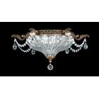 Milano 2-Light Flush Mount Finish: Etruscan Gold, Crystal Type: Swarovski Elements Clear