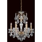Sonatina 6-Light Chandelier Crystal Type: Swarovski Elements Clear, Finish: Heirloom Gold