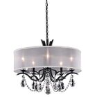 Vesca 5-Light Chandelier Crystal: Swarovski, Finish: Ferro Black