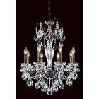 Sonatina 8-Light Chandelier Crystal Type: Swarovski Elements Clear, Finish: Black Pearl