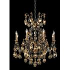 Renaissance 8-Light Chandelier Finish / Crystal Color: Antique Silver / Strass Golden Teak
