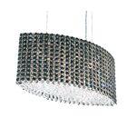 Refrax 9-Light Kitchen Island Pendant Crystal Type: Swarovski Elements Travertine