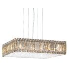 Quantum 23-Light Rectangle Pendant Width / Crystal Color: 20